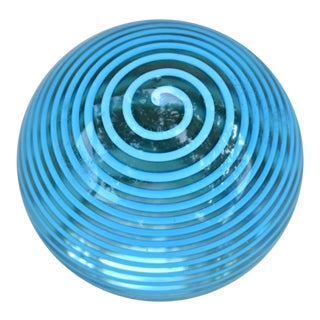 1970s Vintage Art Glass Paperweight For Sale