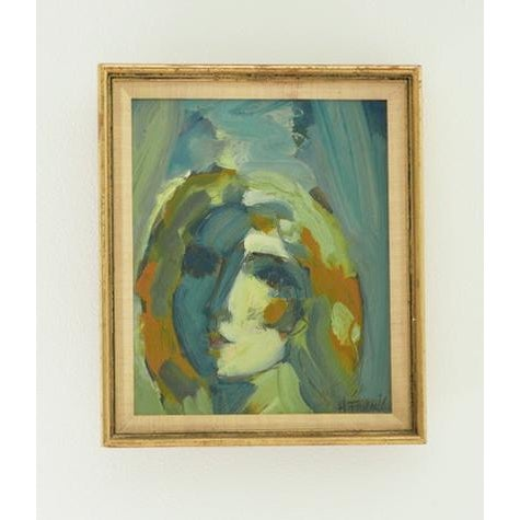 1980s Abstract-Expressionist Inspired H. Frank Painting For Sale - Image 5 of 5