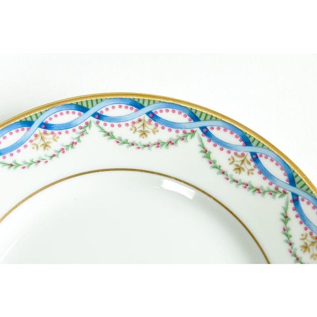 Ceramic Limoges Made for Tiffany Dinner Set - Set of 42 For Sale - Image 7 of 9