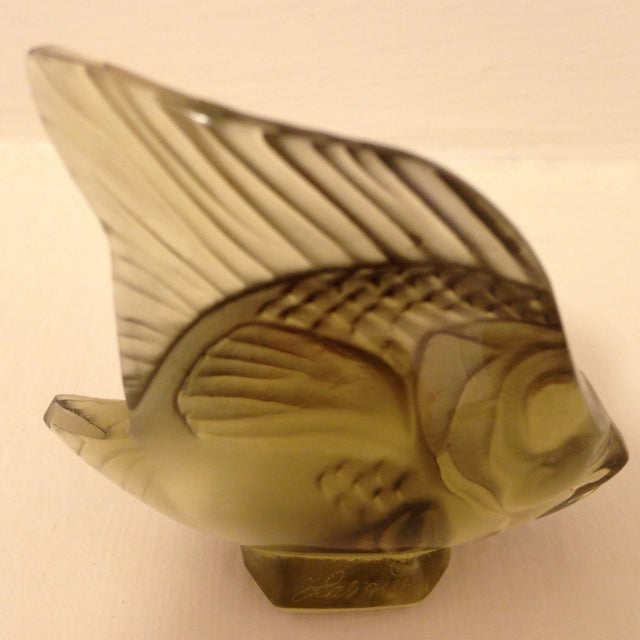 Lalique Angel Fish Moss For Sale - Image 4 of 6