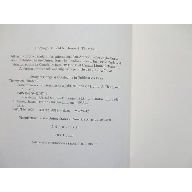 Better Than Sex, Hunter S. Thompson, 1st - Image 6 of 8