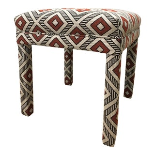 Red Geometric Parsons Bench