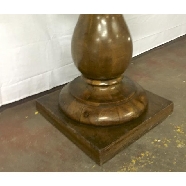 Awesome Solid Neo Classic Wood Pedestal For Sale - Image 4 of 5