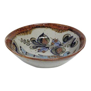 Vintage Mid-Century Mexican Pottery Serving Bowl by Ken Edwards For Sale