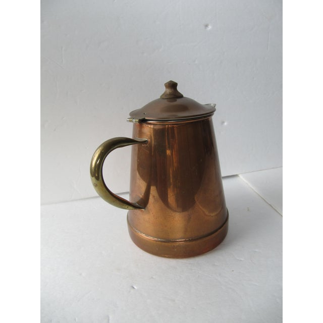 Vintage Copper & Brass Coffee Pot - Image 6 of 7