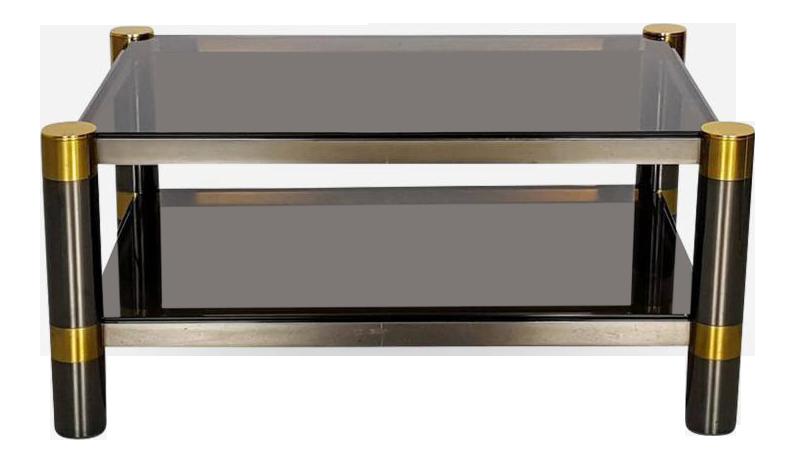 Exceptionnel Elegant Karl Springer Cocktail Table For Sale