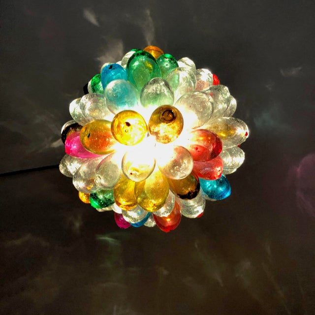 Transparent Bright Colors of Light Fixture of Recycled Hand Blown Glass For Sale - Image 8 of 11