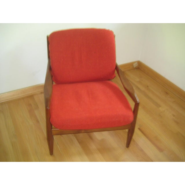 Mid-Century Danish Modern Lounge Chair For Sale - Image 4 of 7
