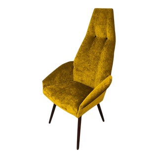 Mid-Century Modern Curated Adrian Pearsall High Back Lounge Chair For Sale