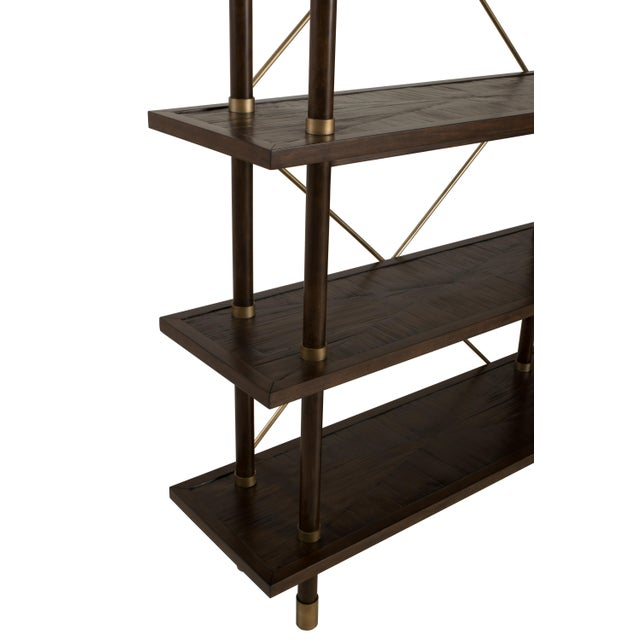 An elegant etagere bookshelf from the Century Furniture Bamboo Collection. Crafted of beech solids with crushed bamboo....