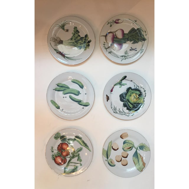 Chelsea House Gold Rim Vegetable Plates - Set of 6 For Sale - Image 10 of 10