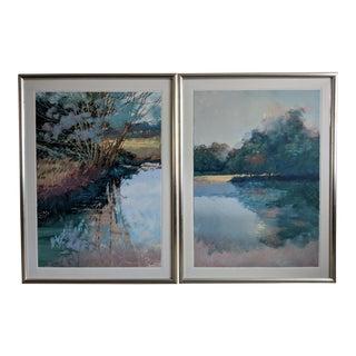 Large Landscape Serigraphs by Don Munzar - a Pair For Sale