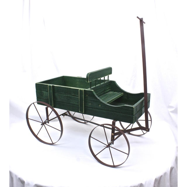 Vintage French Style Wagon Planter For Sale - Image 4 of 6