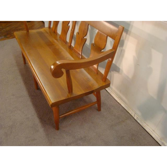 Item: Stickley Solid Cherry Settee or Bench Age: 1980's Condition: Very Clean Excellent Original Finish Measurements:...