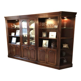 5-Piece Cherry Lighted Wall Unit