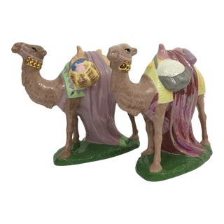 Vintage Ceramic Camels - a Pair For Sale