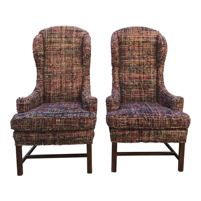 Vintage Wing Back Host Dining Chairs- a Pair For Sale