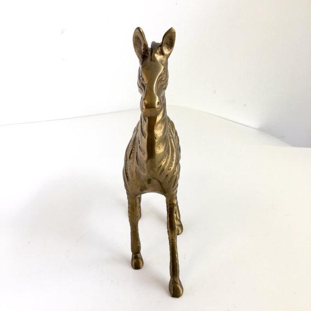 Boho Chic Vintage Brass Zebra Statue For Sale - Image 3 of 7