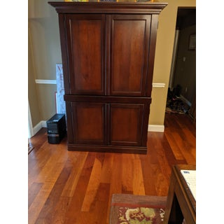 Pottery Barn Solid Wood Entertainment Cabinet Preview