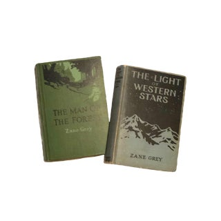 1914 & 1920 Zane Gray First Print Books - a Pair For Sale