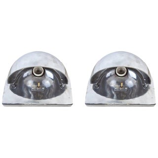 Pair of Ship's Nautical Bunk Lights, Midcentury For Sale