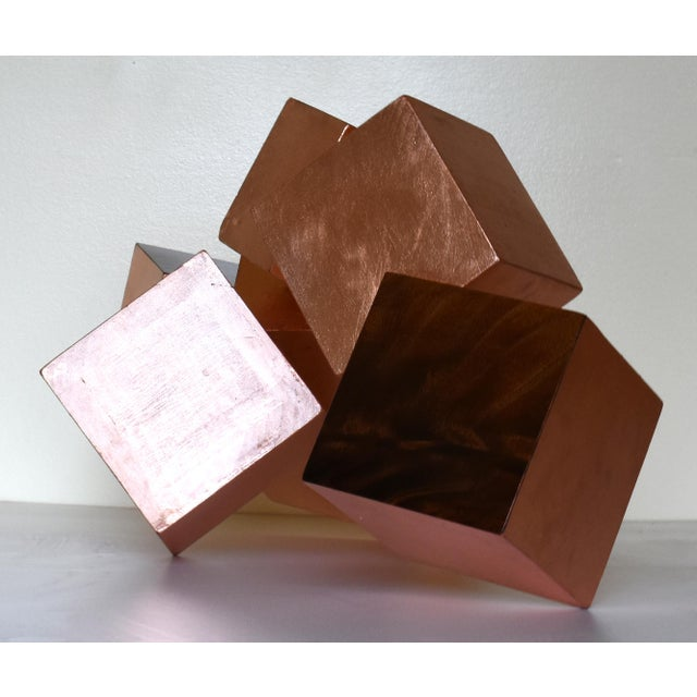 2010s Copper and Mahogany Pyrite Sculpture For Sale - Image 5 of 13
