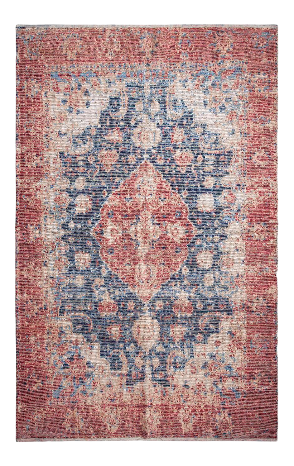 Picture of: Klein Transitional Jute Hand Loom Area Rug Blue 8 X 10 Chairish
