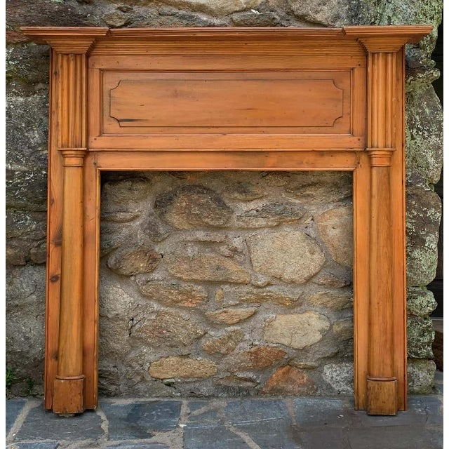 Traditional Early 19th Century Pine Fireplace Mantel For Sale - Image 3 of 13