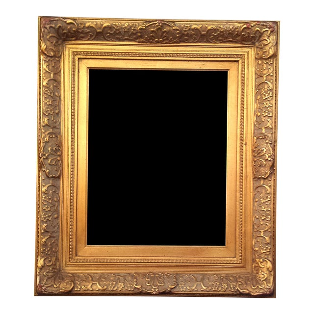 Baroque Large Heavy Gilded Antique Gold Barbizon Finished Mirror