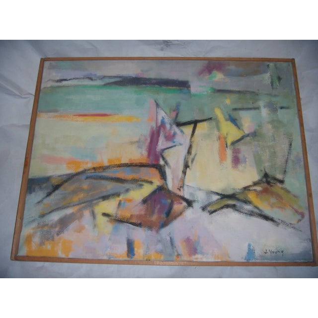 Signed 1961 Jean Young Abstract Painting - Image 3 of 11