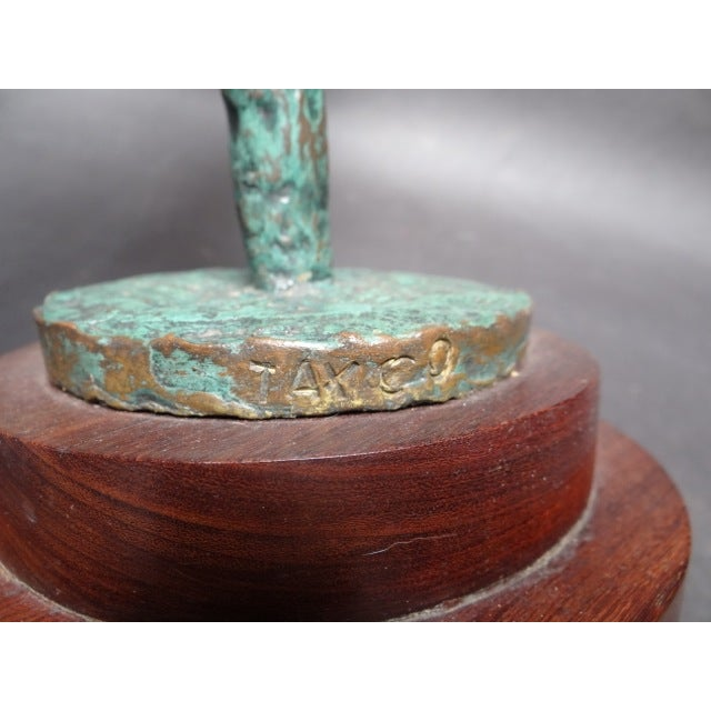 Abstract Carl Lewis Pappe Abstract Bronze Sculpture For Sale - Image 3 of 5