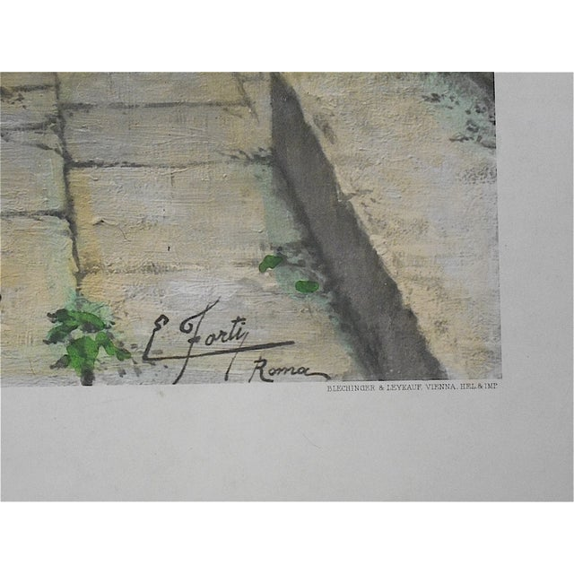 """Large Antique Lithograph """"Gentle Pastime"""" For Sale - Image 4 of 7"""
