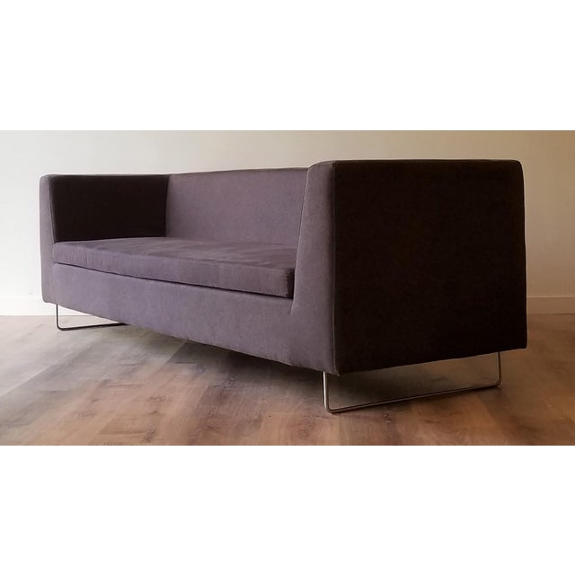 Contemporary Blu Dot Bonnie Sofa in Conduit Charcoal For Sale - Image 12 of 12