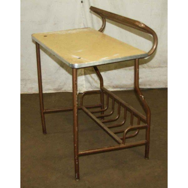 The American School Antique Desk With Storage For Sale - Image 3 of 4