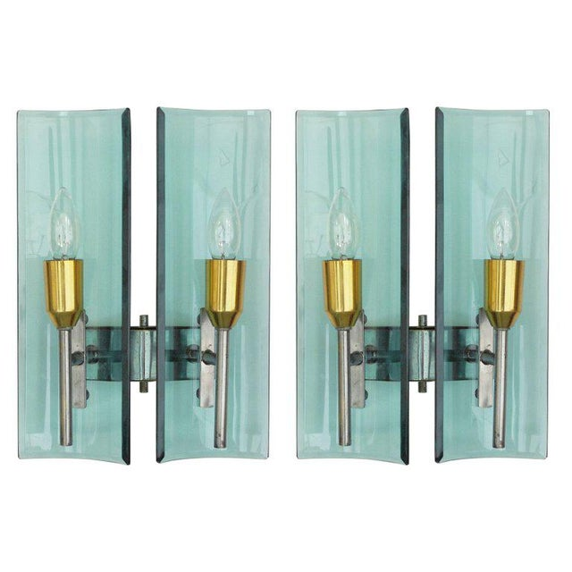 Cristal Arte Beveled Sconces (3 Available) For Sale - Image 11 of 12