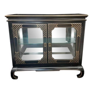 Vintage Jasper Cabinet Co. Lighted Display Cabinet For Sale