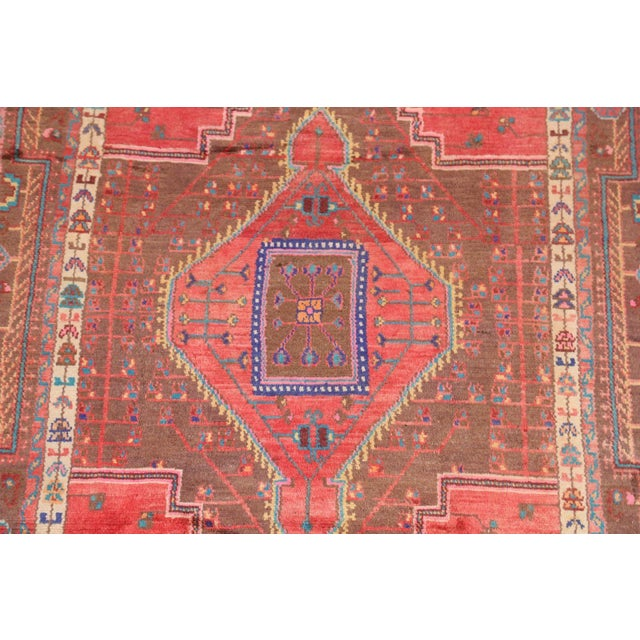 Condition: Good Description: Nomadic style. Over 40 years old Size in inches: 104L x 60W Color: Brown, Coral, Blue, Green,...