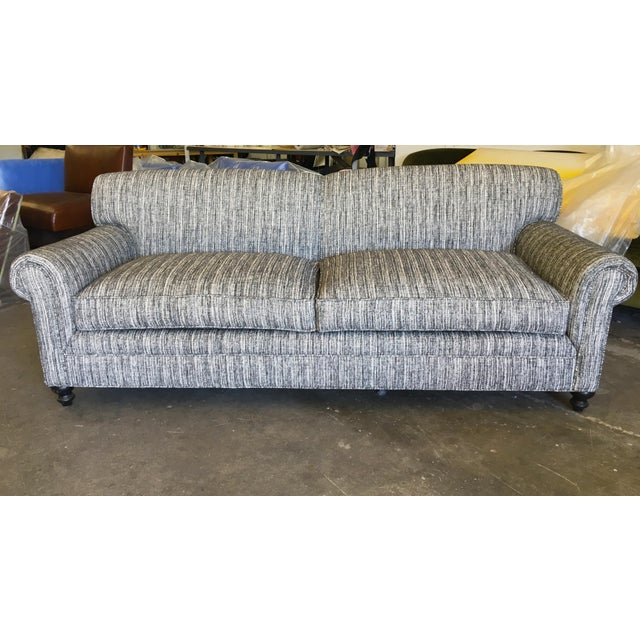 Brand Spanking New/Re-upholstered Sofa made of fine Italian wool tweed. The fabric is super soft -- not at all scratchy,...