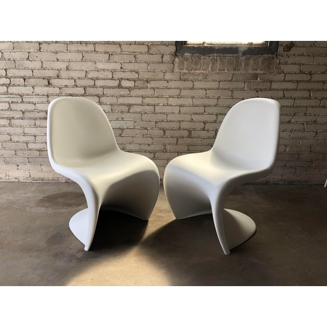 Vitra Modern Vitra Panton Matte White S Chairs - A Pair For Sale - Image 4 of 13