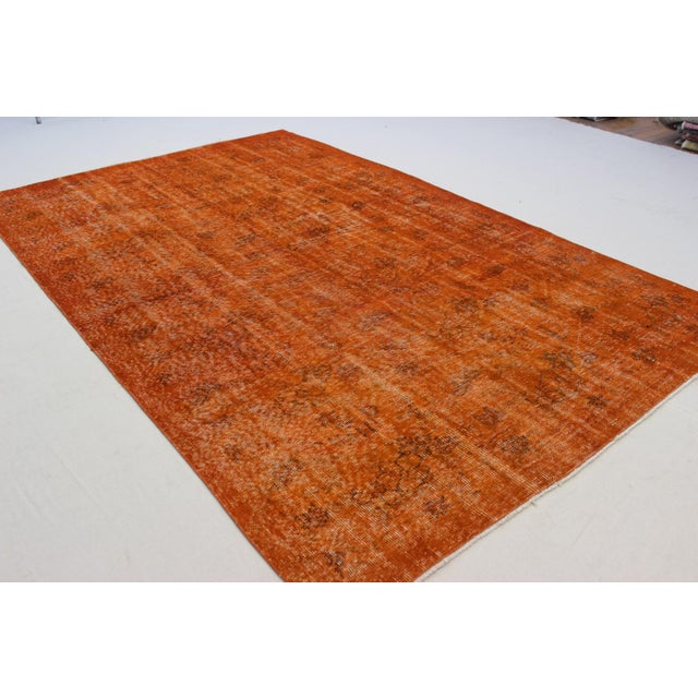 Vintage Overdyed Turkish Rug - 5′9″ × 9′ - Image 4 of 6