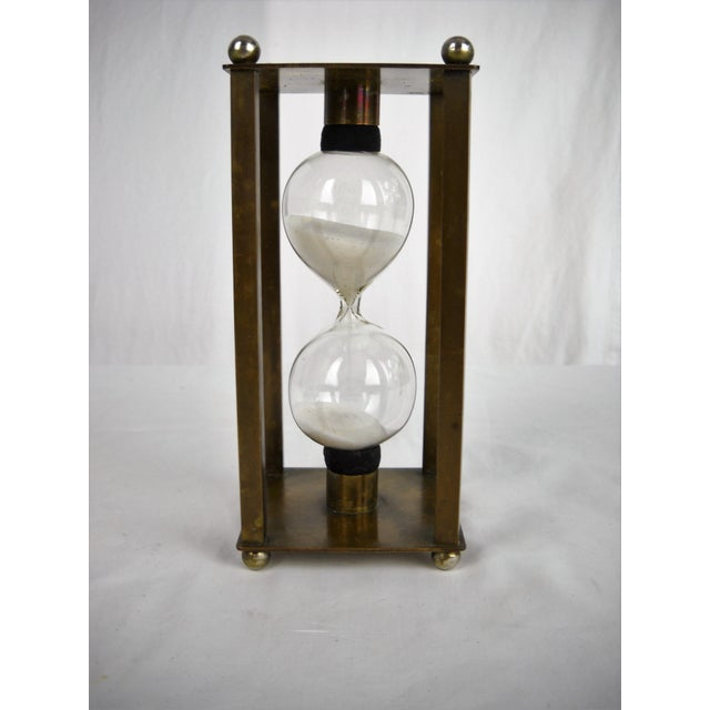 Vintage Brass Petite Hour Glass For Sale - Image 4 of 8