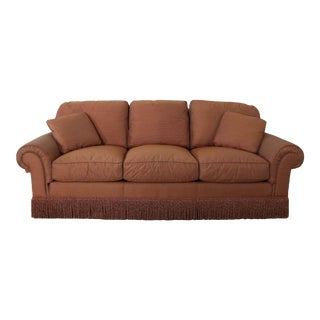 Baker Sofa Lawson Style From the Crown and Tulip Collection Terracotta For Sale