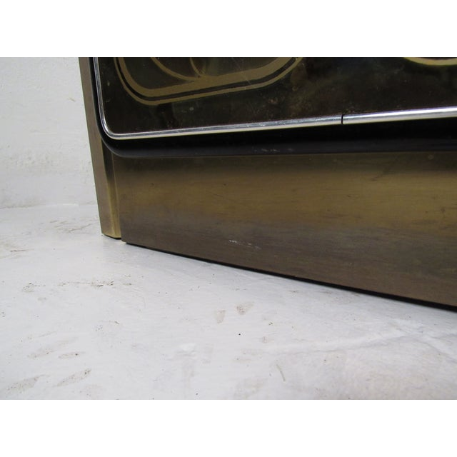 Metal Stunning Mastercraft Demilune Console Cabinet by Bernhard Rohne For Sale - Image 7 of 13