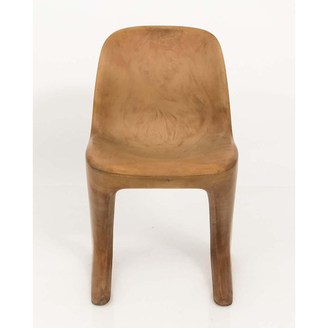 Sculptural, cantilever Kangaroo side chair in the manner of Ernst Moeckl's Z-chair design from the 1960s. This accent...