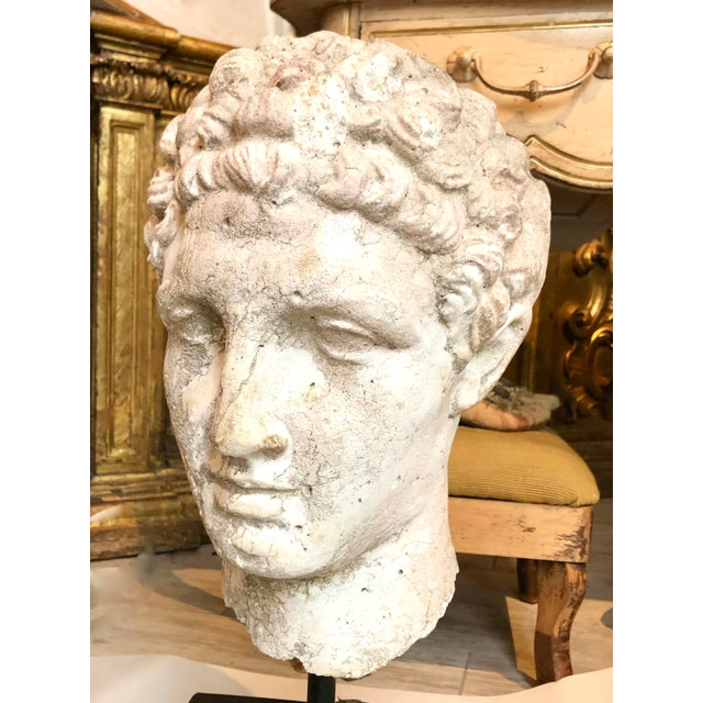 Metal 1930s Greek Mid-Century Head of the God Hermes Sculpture For Sale - Image 7 of 13