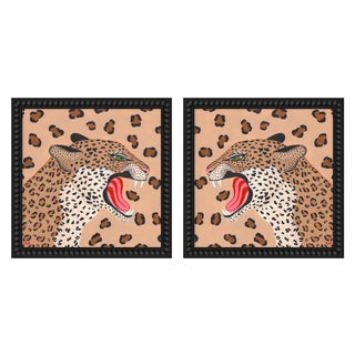 "Medium ""Cheetahs, a Pair"" Print by Willa Heart, 36"" X 18"" For Sale"