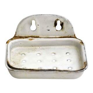 Sheet Metal Enameled Soap Dish For Sale
