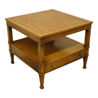 "Drexel Heritage Triune Collection Mahogany 26"" Square End Table For Sale"
