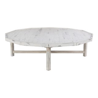 Katadin White Wood Coffee Table