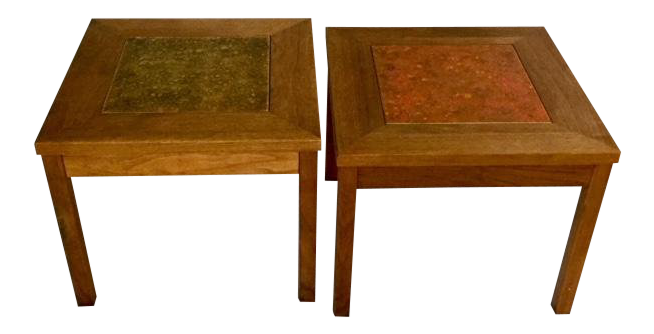 Exceptionnel 1960s Mid Century Modern John Keal For Brown Saltman Walnut End Tables   A  Pair